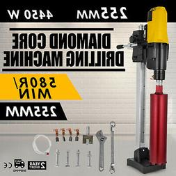 4450W Diamond Core Drill Concrete Drill Machine Max 255mm w// Stand /& Drill Bits