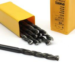 10 DeWalt DT5259 8mm HSS-G Metal Drill Bits for Steel, Alloy