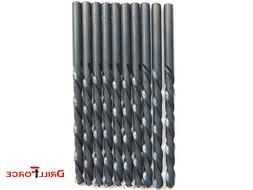 "10PCS 9/64"" Drill Bit Set Black Oxide HSS Jobber Length Twis"