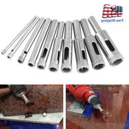 10pcs Diamond Drill Bits for Glass Ceramic Tile Porcelain Ho