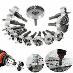 MOHOO 13 PCS 16-53 mm HSS drill bit hole saw set stainless s