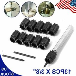"""13pcs Double Sided 3/8"""" Rotary Spot Weld Cutter Remover Dril"""