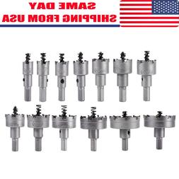13Pcs/Set Carbide Tip TCT Drill Bit Hole Saw Kit Stainless S