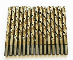"15 DEWALT 27/64"" COBALT HIGH SPEED STEEL DRILL BITS METAL SP"