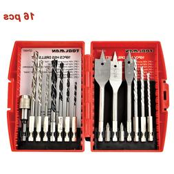 Drill Bit Set for Wood Masonry Plating Manonry HSS Flat Set