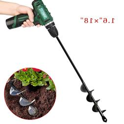 18INCH Planting Auger Spiral Hole Drill Bit For Garden Yard