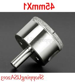 1X 45mm Diamond Drill Bits Hole Saw Cutter Tool Long Shank G
