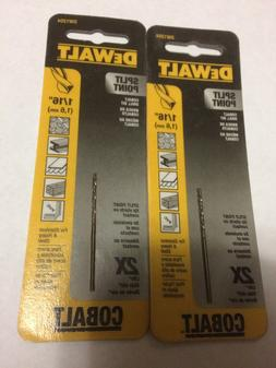 "DeWALT COBALT SPLIT POINT 2X DW 1204 1/16"" HIGH SPEED STEEL"