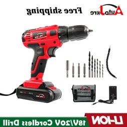 20-Volt Drill 2 Speed Electric Cordless Drill / Driver with