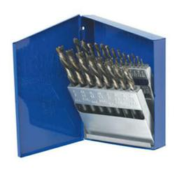 21 Pc. High Speed Steel Drill Bit Set with Turbo Point Tip