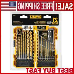 Dewalt 21 PCS Titanium Pilot Point Drill Bit Set for Metal a