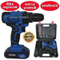 21-Volt drill 2 Speed Electric Cordless Drill / Driver with