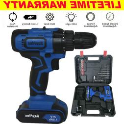 21V Cordless Drill Electric Screwdriver Wireless Power Drive