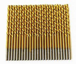 "25 DEWALT TITANIUM 1/8"" HIGH SPEED STEEL DRILL BITS METAL GO"