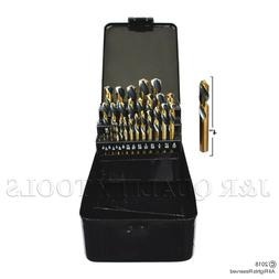 29PC Stubby Industrial Black & Gold Drill Bit Set 135 degree