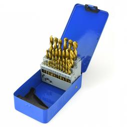 29pc Titanium Coated Drill Bit Set -Reduced Shank High Speed