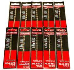 "Craftsman 3/16"" High Speed Steel Drill Bits 10 Pack"