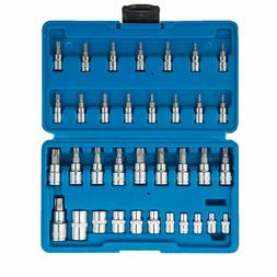 35 pc Torx Bit and E-Socket Set with case W/ Industrial S2 S