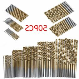 50 PCS HSS Cobalt Twist Drill Bits HSS-Co For Hard Metal Sta