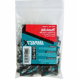 50 Pack Makita A-96497 Impactx 3 Phillips 1″ Insert Bit To