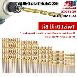 50PCs HSS Cobalt Twist Drill Bits HSS-Co For Hard Metal Stai