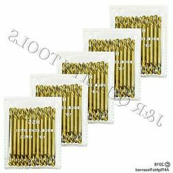 """60-PC INDUSTRIAL 1/8"""" INCH TITANIUM DRILL BITS DOUBLE ENDED"""