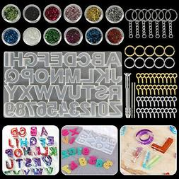 Alphabet Letter Number Silicone Mold Necklace Jewelry Resin