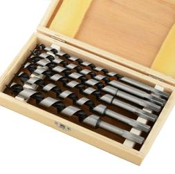 "6pc 9"" Brad Point Drill Bits Set Wood Boring Extra Long 3/8"""