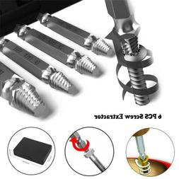 6Pcs/Set Screw Extractor Drill Bits Tools Broken Damaged Str