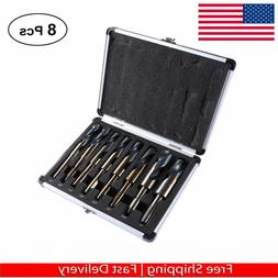 "black /& Gold finish 8pc Jumbo Silver /& Deming Industrial Bit Set 1 1//16/""-1 1//2"