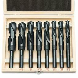 "8PC 1/2"" Shank Jumbo Silver & Deming Drill Bit Set 