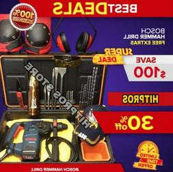 BOSCH HAMMER DRILL , DISPLAY, BITS AND CHISELS, FAST SHIP