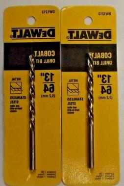 "Dewalt DW1213 13/64"" Cobalt Drill Bit 2pcs. Germany"