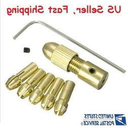 Mini Twist Drill Tool Chuck Set Small Electric Drill Bit Col