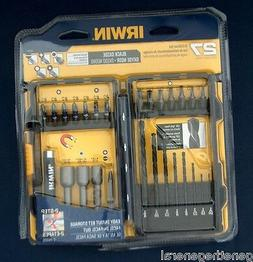 IRWIN 27 PIECE DRILL AND INSERT BITS, NUT DRIVERS 27 PIECE S