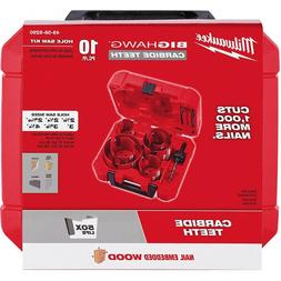 "NEW MILWAUKEE 49-56-9290 10PC ""BIG HAWG""  CUTTER HOLE SAW KI"