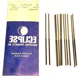 No.52 Drill Bits Taper Length High Speed Steel USA Made 12 P