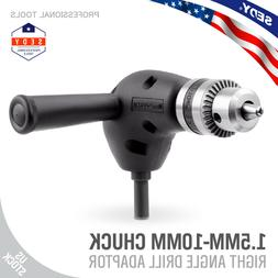 Right Angle Drill  Attachment Chuck Adapter Electric Power C