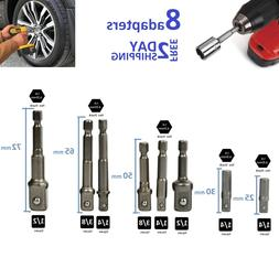 Socket Adapter to Power Drill Cordless Impact Driver Attachm