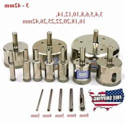A pack of 15pcs- New Diamond drill bit hole saw kit for dril