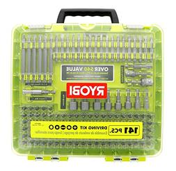 Ryobi A961412 141 Piece Driving Set with Carrying Case, Nut