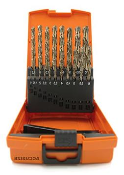 AccusizeTools - M35 HSS+5% Cobalt Metric Drill Set, 135 Deg