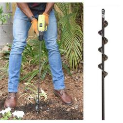 Auger Bit Drill Earth Gardening Tools Hole Digging Bulbs Pla