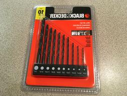 BLACK & DECKER 10 piece Drill Bit Set