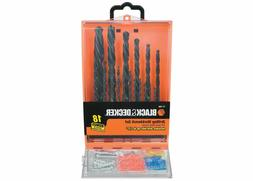 BLACK & DECKER 18 Piece Drill Bit Set/ Drilling Workbench Se