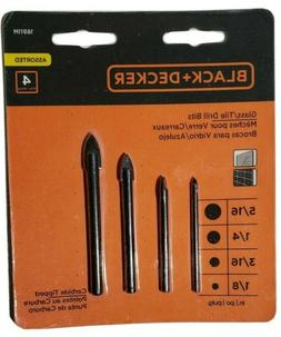 Black+Decker 16911M Glass/Tile Drill Bits 4 Pc. Assorted Car