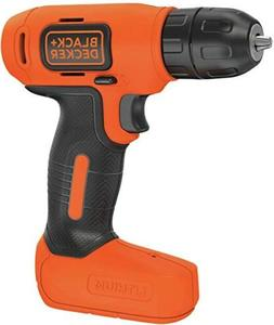 BLACK+DECKER 8V CORDLESS DRILL LITHIUM BATTERY TOOL WITH BON