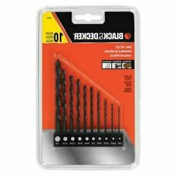 Black Decker Drill Bit Set 10Piece Bit Bar Organizer Works O