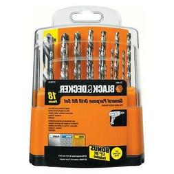 BLACK+DECKER 71-931 HSS Drill Bit Set, 18-Piece