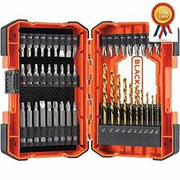 BLACK+DECKER Screwdriver Bit Set / Drill Bit Set, 46-Piece